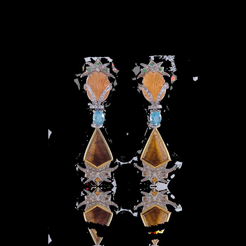 Pina Citrine And Tourmaline Earrings Annellino Fine