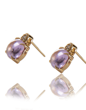amethyst white diamond studs handmade annellino london