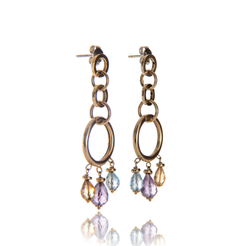 annellino london gold esmarelda topaz amethyst drop earrings