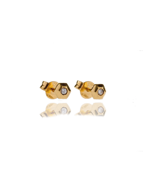 studs diamond gold annellino london