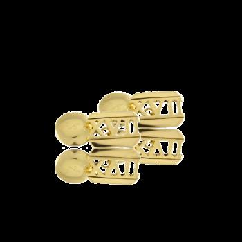 Bespoke Handmade Italian 18kt Gold Cufflinks UK Roman Numerals