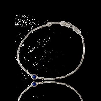 Blue Sapphire Punto Luce 18kt White Gold Bracelet