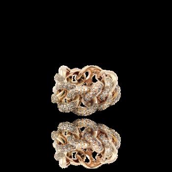 Champagne diamond 18kt Rose Gold Italian Cocktail Ring