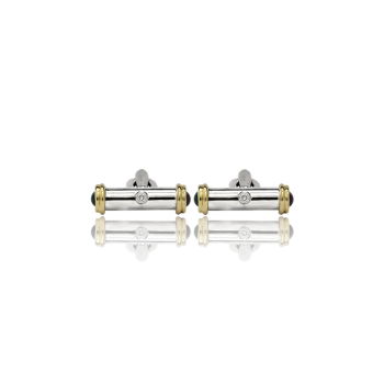 Ruby and Emerald Handmade Cufflinks 18kt gold Italian made