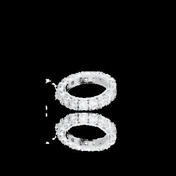 White Diamond Eternity ring italian 18kt Gold