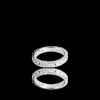 White Diamond Eternity ring italian london 18kt gold
