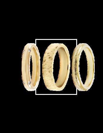 18k Yellow Gold Wedding bands
