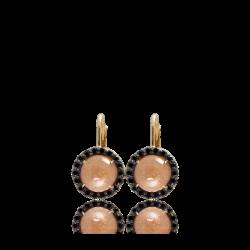 Black Diamond and Sunburst Surround Earrings