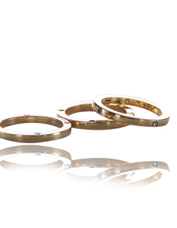 Fede Quadrati Squared Weddning bands Made in Italy White Diamonds