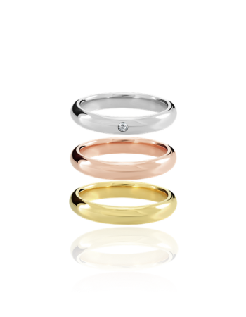 Wedding bands Handmade in Italy 18k Gold