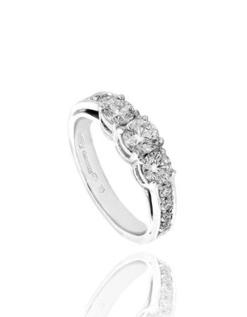 White Diamond Made in Italy Trilogy Ring