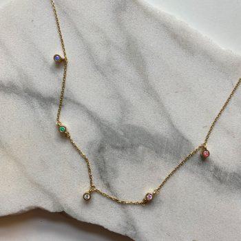 peridot white diamond topaz punto luce pendant