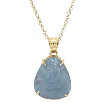 Aquamarine Necklace Handmade in Italy