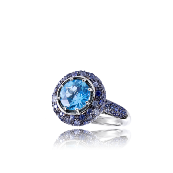 Topaz and Sapphire Cocktail Ring Product Page