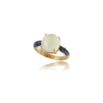 White Moonstone and blue sapphire product page