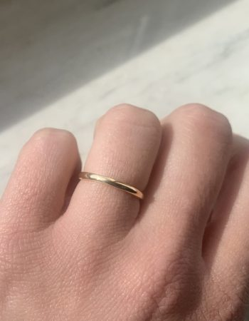 Skinny Wedding Band 2.80mm Handmade in Italy London